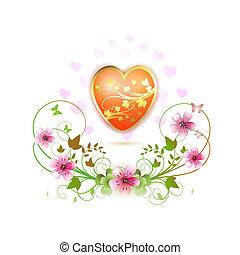 coeur, décoré