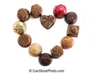 coeur, de, bonbons