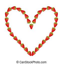 coeur, de, fraise