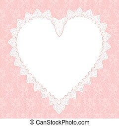 coeur, dentelle