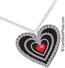 coeur, diamant