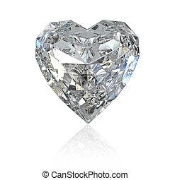 coeur, diamant, formé