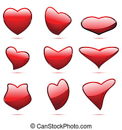coeur, différent, forme