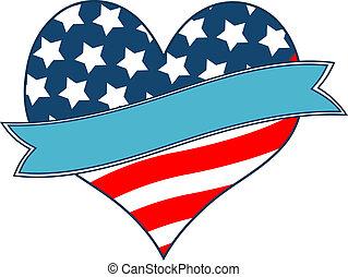 coeur, drapeau américain