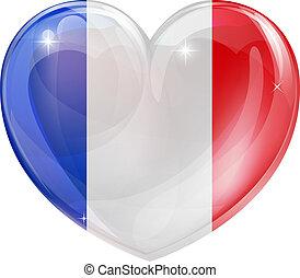 coeur, drapeau français