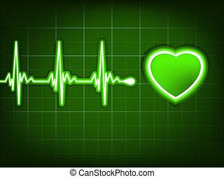 coeur, ekg, graph., eps, beat., vert, 8