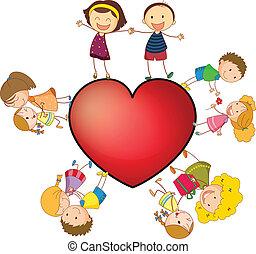 coeur, enfants