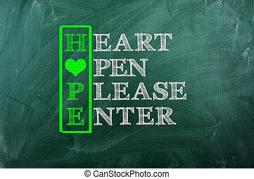 coeur, espoir