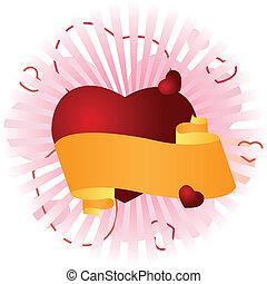 coeur, félicitation, bannière