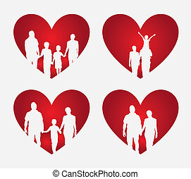 coeur, famille