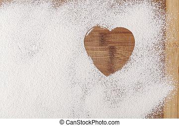 coeur, farine