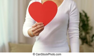 coeur, femme, gay, ruban, fierté, conscience