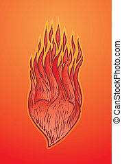 coeur feu