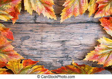 coeur, feuilles, automne