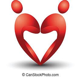 coeur, figures, logo, vecteur, eps10