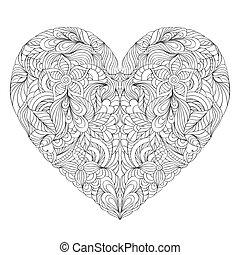 coeur, fond blanc