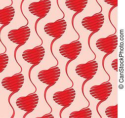 coeur, fond, illustration, origami
