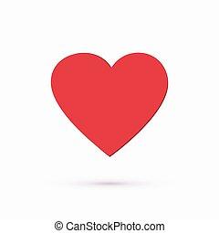 coeur, fond, rouges