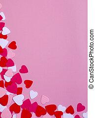 coeur, fond, valentin
