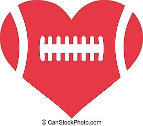 coeur, football américain