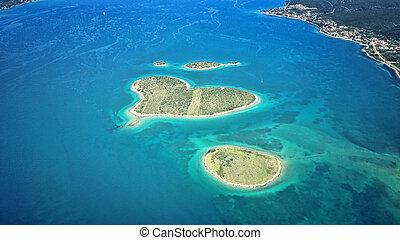 coeur, Formé,  galesnjak, Adriatique, île