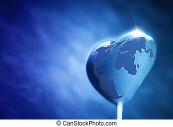 coeur, Formé, sucette, La terre