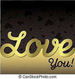 "coeur, format!, ""love, vecteur, textured, you!"", carte"
