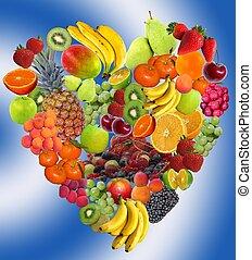 coeur, fruit