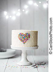 coeur, gâteau