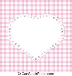 coeur, grille, dentelle