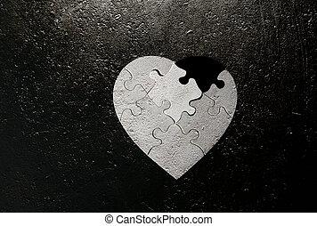 coeur,  grunge, Formé