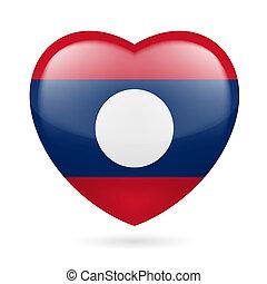 coeur, icône, de, laos
