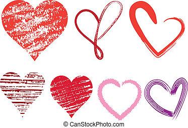 coeur, icônes