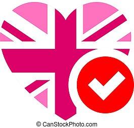 coeur, illustration, forme, drapeau, vecteur, conception, ...