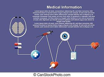 coeur, illustration., monde médical, cardiologie, ekg, résumé, arrière-plan., vecteur, concept., stethoscope.