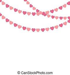 coeur, illustration, vecteur, fond, confetti, fête