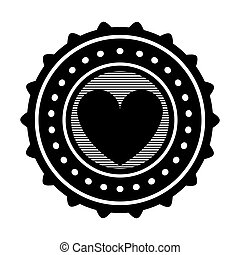coeur, image, emblème, icône