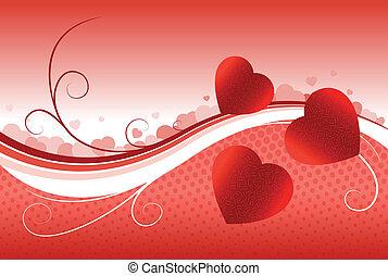 coeur, image, vecteur, forme