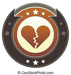 coeur, impérial, crête, cassé