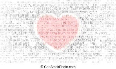 coeur, informatique, amour, électronique, programming.