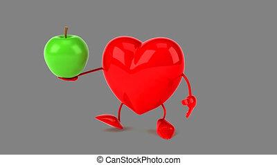 coeur, informatique, -, animation