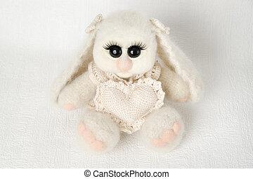 coeur, jouet, lapin