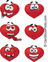 coeur, jour, petite amie, sourires