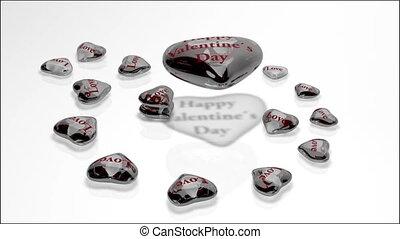 coeur, -, jour, verre, valentine