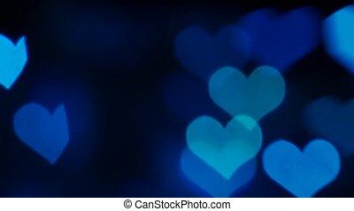 coeur, lent, amour, valentine, résumé, mouvement, fond, formes, jour, briller