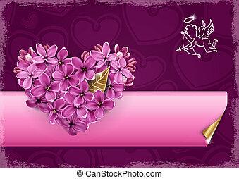 coeur, lilas