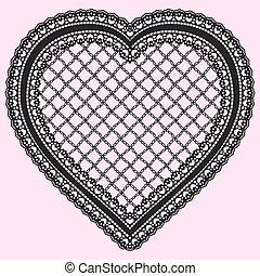 coeur, lumière, cadre, invitations, isolé, élément, arrière-...