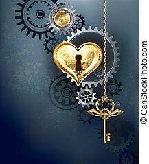 coeur, mécanique, clã©