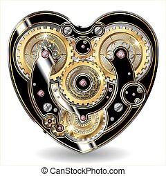 coeur, mécanique, steampunk
