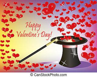 coeur, magie, st.valentine, voler, fond, hat(0).jpg, lot